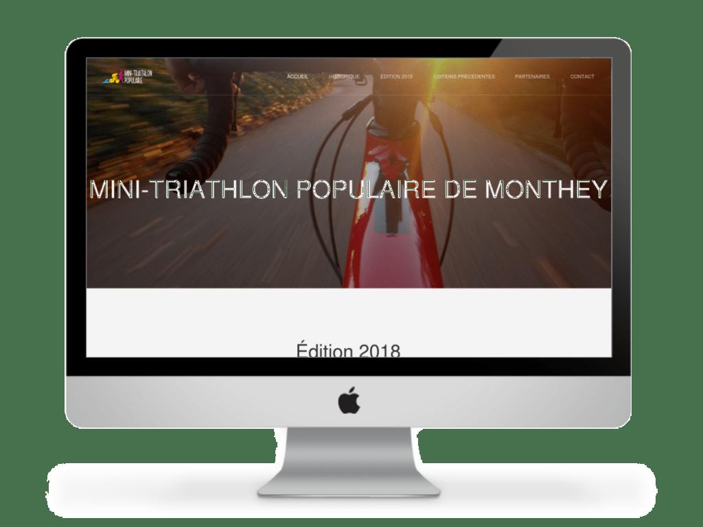Site mini-triathlon populaire de Monthey